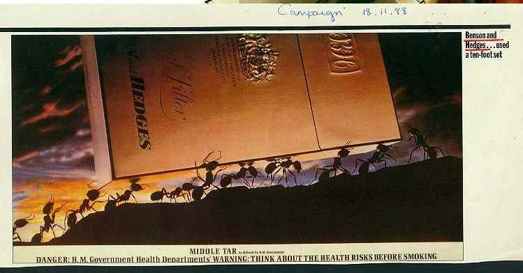 Click for a larger, floating, image. Benson & Hedges tools ad with phallic anvil.