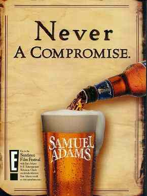 Never a compromise Ad for Samuel Adams