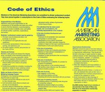 Click to link to page with larger, readable, version of AMA Code of Ethics.