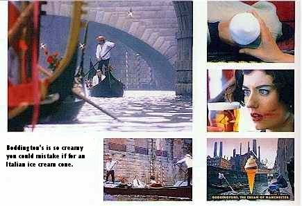 Extract from book of prize winning ads showing the Cream in Venice