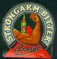James Boag Strongarm bitter label.