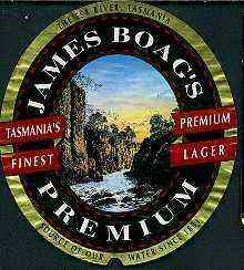James Boag Premium lager label.