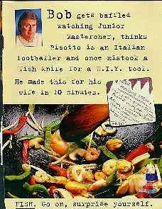 Bob's seafood ad.