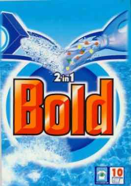 Click for a larger, floating, image. Bold washing powder pack.