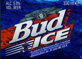 Bud Ice Label