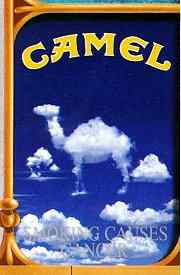 Click for a larger, floating, image. Another of the seven special Camel cigarette packs