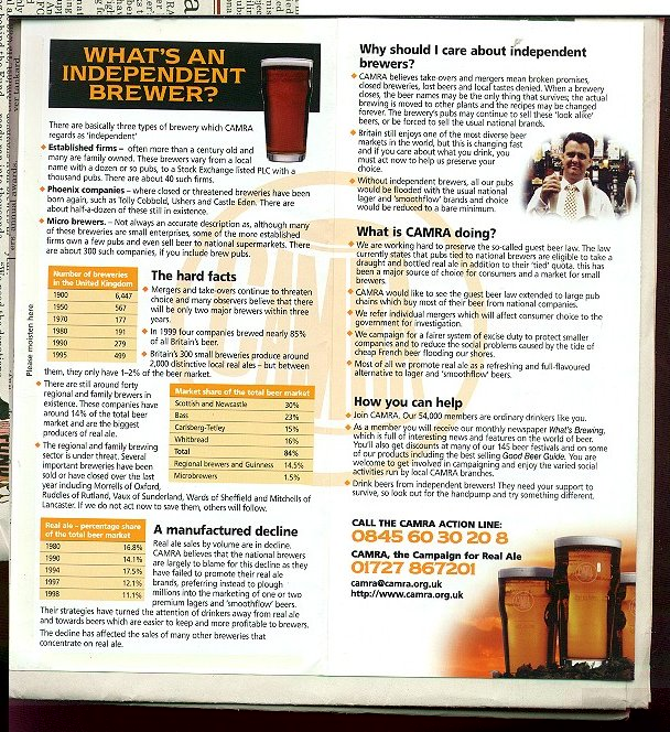 Informationabout Independent Brewers