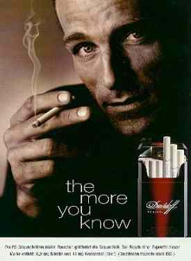 Davidoff ad. Click for a larger, floating, image.