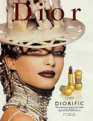 Click for a larger, floating, image. Dioir hat with maniking with erection.