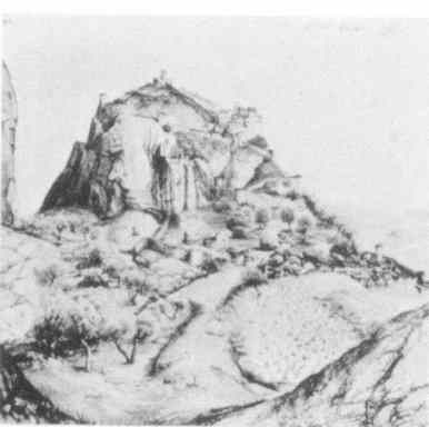 Durer's painting of  Fenedier Fortified Rock at Arco