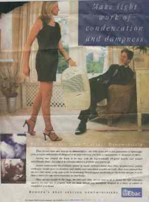 Advert for Ebac dehumidifiers
