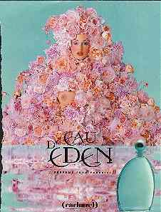 Click for a larger, floating, image.  Eden ad with bare breasted woman.