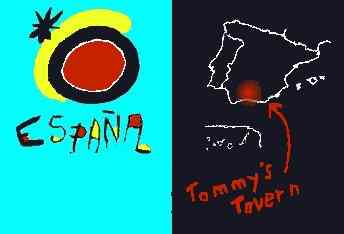 Spanish tourist logo and map.
