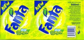 Fanta Ice Lemon label.