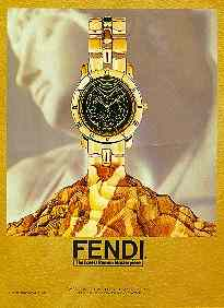 Click for a larger, floating, image. Fendi ad with figure in background.