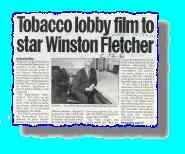 Newspaper article about  Winston Fletcher