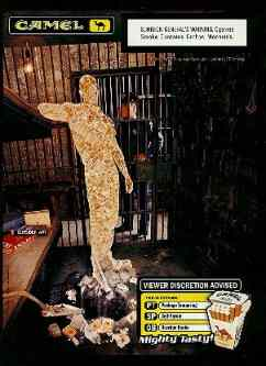 Click for a larger, floating, image. Camel Jail ad with embedded figures Part 2.
