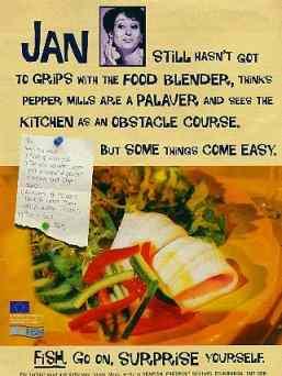 Jan's seafood ad.