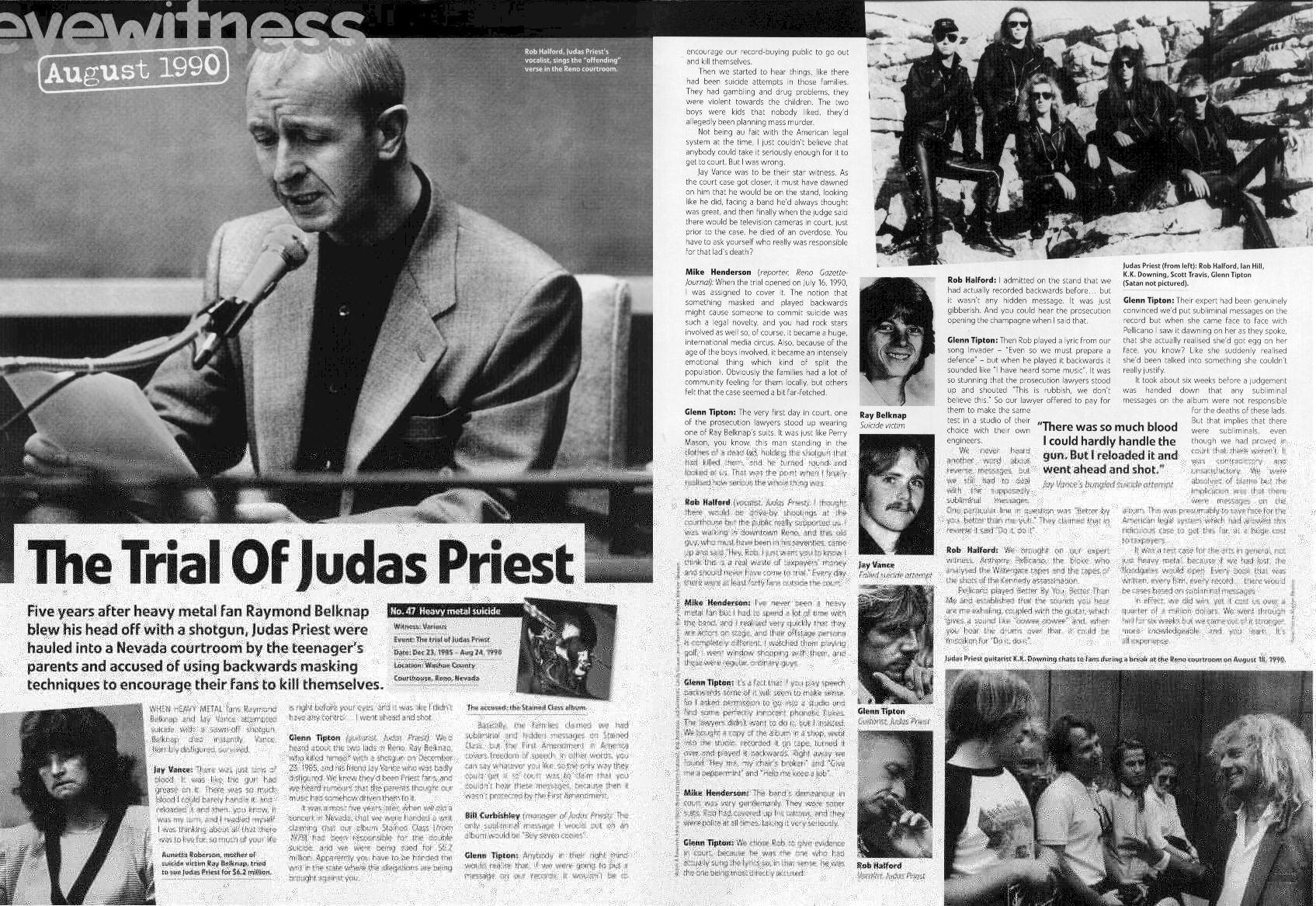 Article about Judas Priest trial.