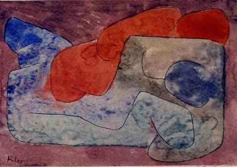 Paul Klee's painting Naked on the Bed with embedded figures. For a larger, floating image, click here.
