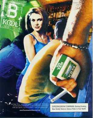 Click for a larger, floating, image. The second of three more standard Kool ads
