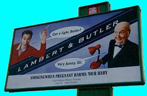typical jokey Lambert and Butler billboard poster