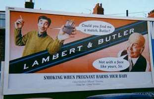 Another jokey Lambert and Butler billboard poster