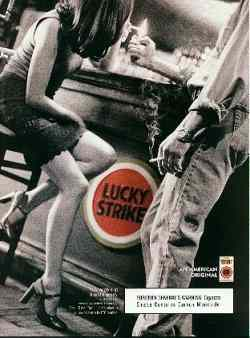 Click for a larger, floating, image. Lucky Strike ad with embedded figures.