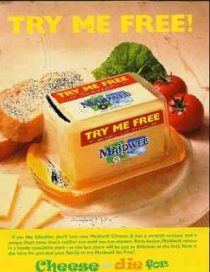 Advert for Maidwell cheese spread