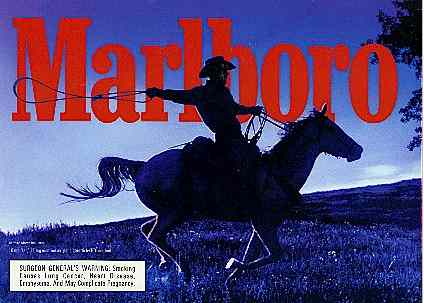 Click for a larger, floating, image. typical Marlboro ad, with 'face' underneath the hooves.