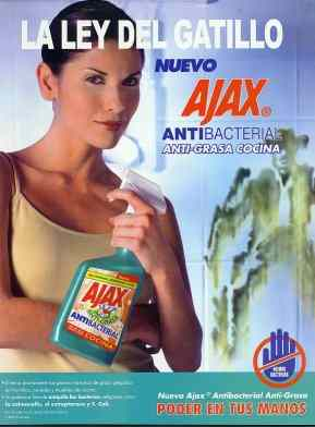 Ajax ad with phallic cowboy