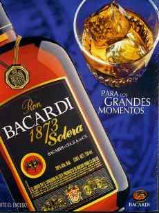 Bacardi ad with anxiety provoking elements in glass
