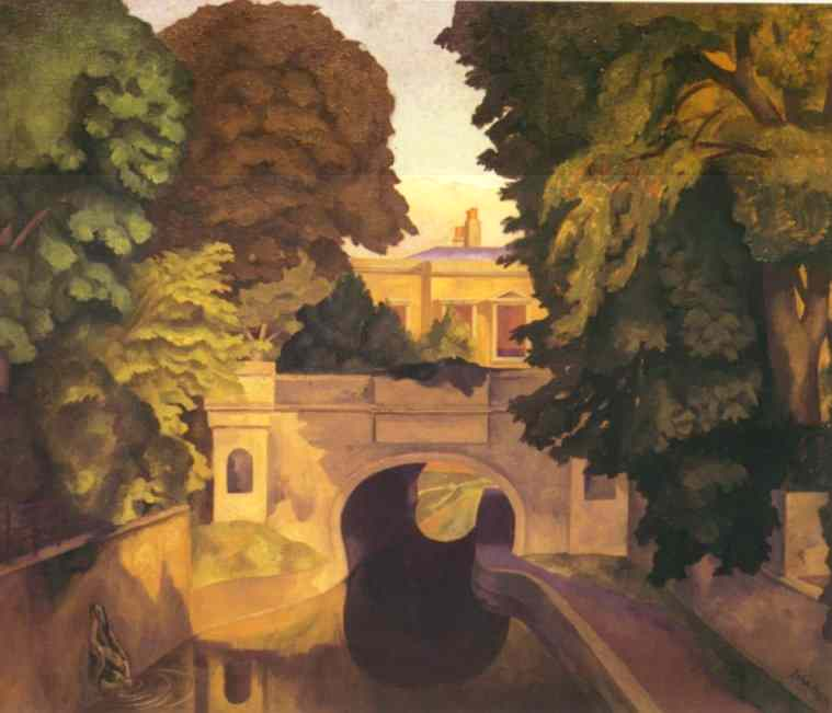 Paul Nash's painting with embedded faces. For a larger floating image, click here.
