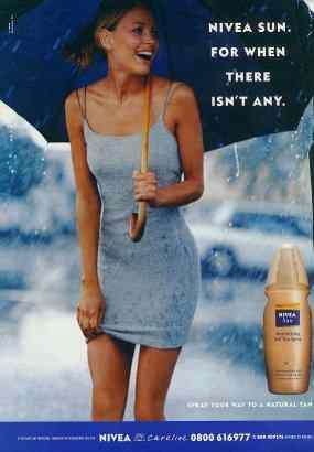 Nivea ad with SX on dress