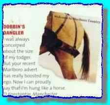 extract from a magazine letter showing Dobbins' dangler