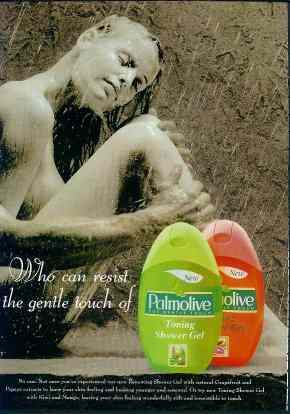 Palmolive ad with male arm instead of expected female arm