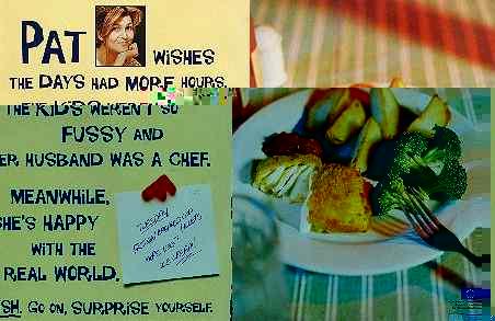 Pat's seafood ad.