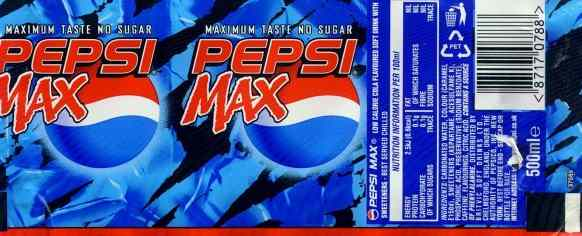 Pepsi Max label