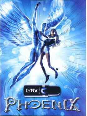 Lynx Phoenix ad in which Angel had giant phallix