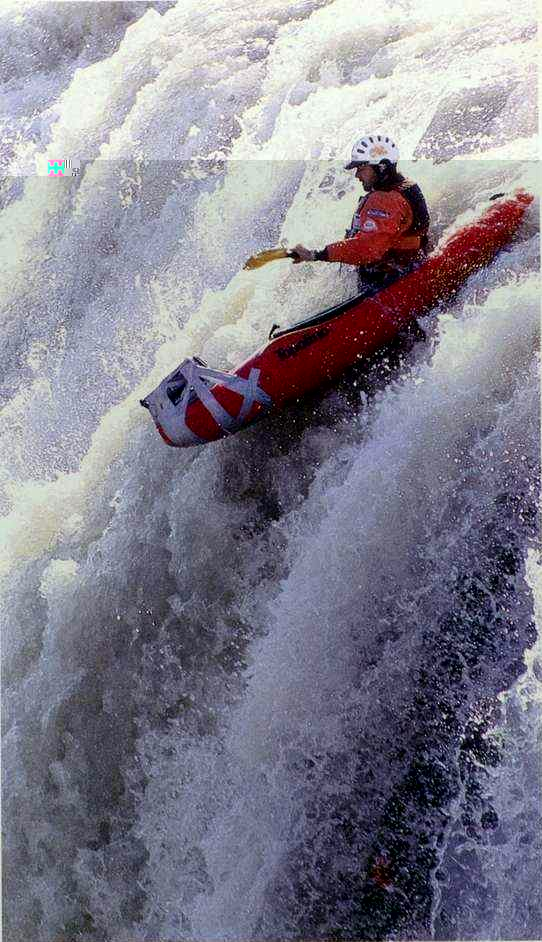 Click for a larger, floating, image of whitewater canoing.