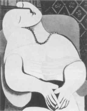 Picasso's masturbating woman. For a larger, floating image, click here.