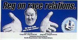 Regal ad with Reg on Race Relations