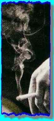 'girl' in smoke