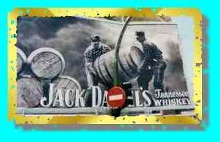 Jack Daniel's billboard.